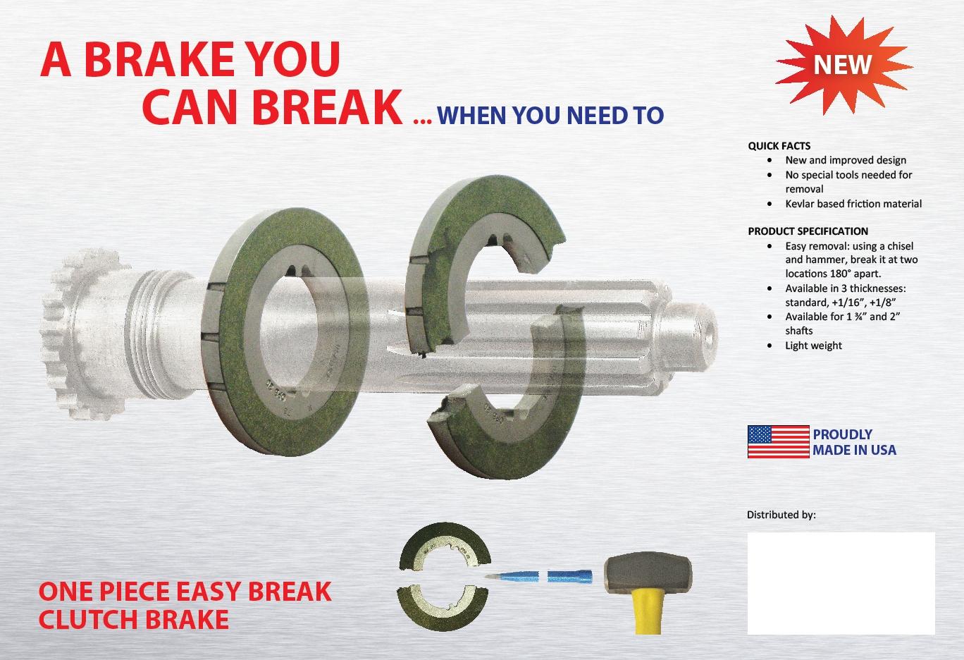237 2in. 1pc brake